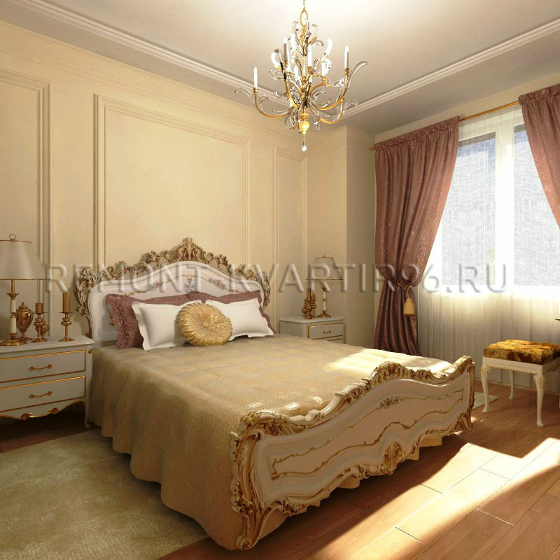 Дизайн спальной комнаты классика